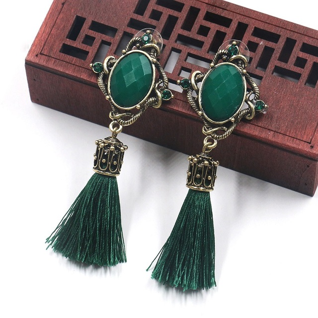 Купить женские серьги с кисточками этнические богемные висячие в стиле