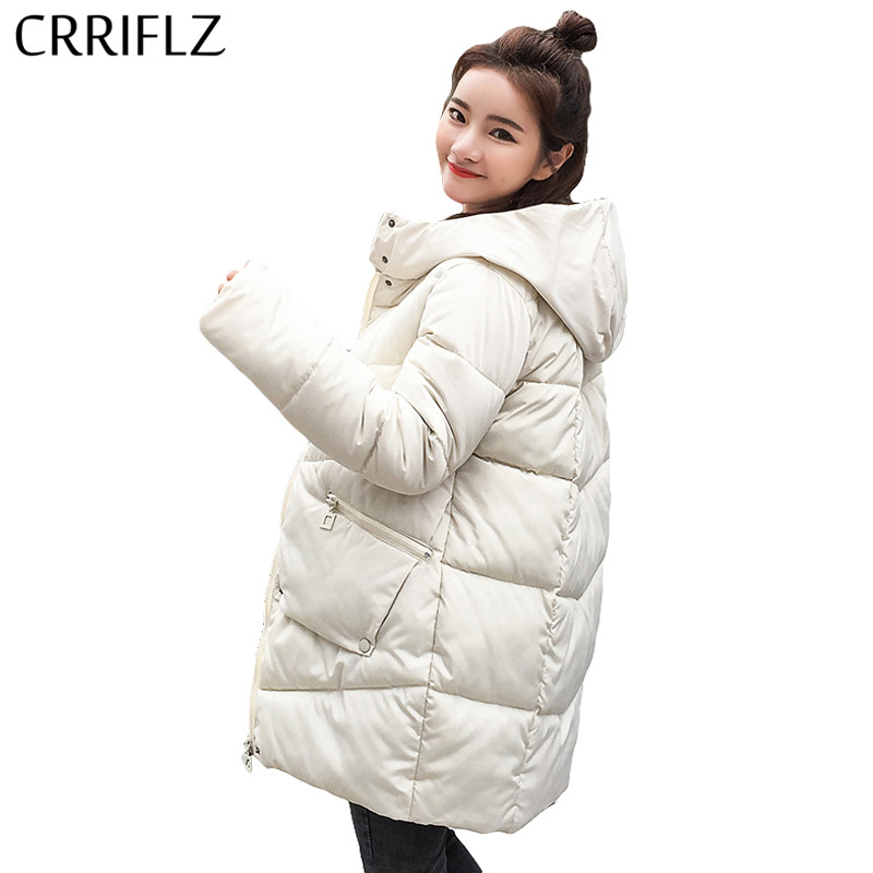 Parka   For Women Winter Jacket Women Coats Zipper Pocket Hooded Coats Ladies Park Cotton Padded Lining Autumn Female   Parkas