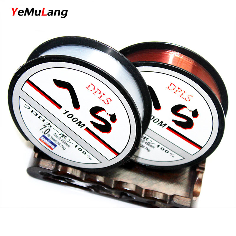 YeMuLang Brand High Quality 100M Nylon Fishing Line Fly Line Monofilament Fly Nylon Line Ikke Fluorokarbon Line For Fiske