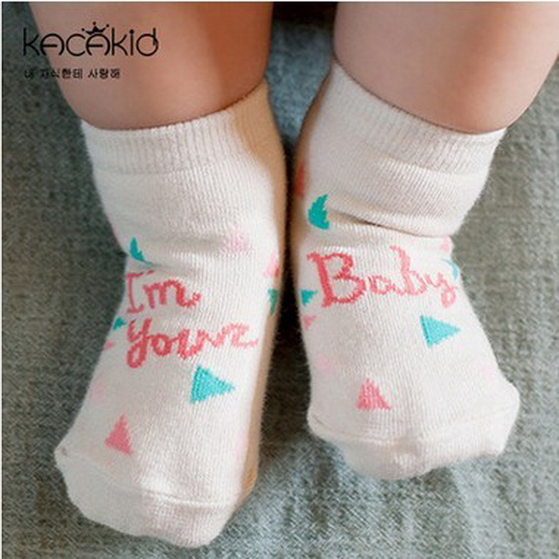 New Arrival Newborn Socks 100% Cotton Baby  Cartoon Socks Non-slip Infant Cotton Socks