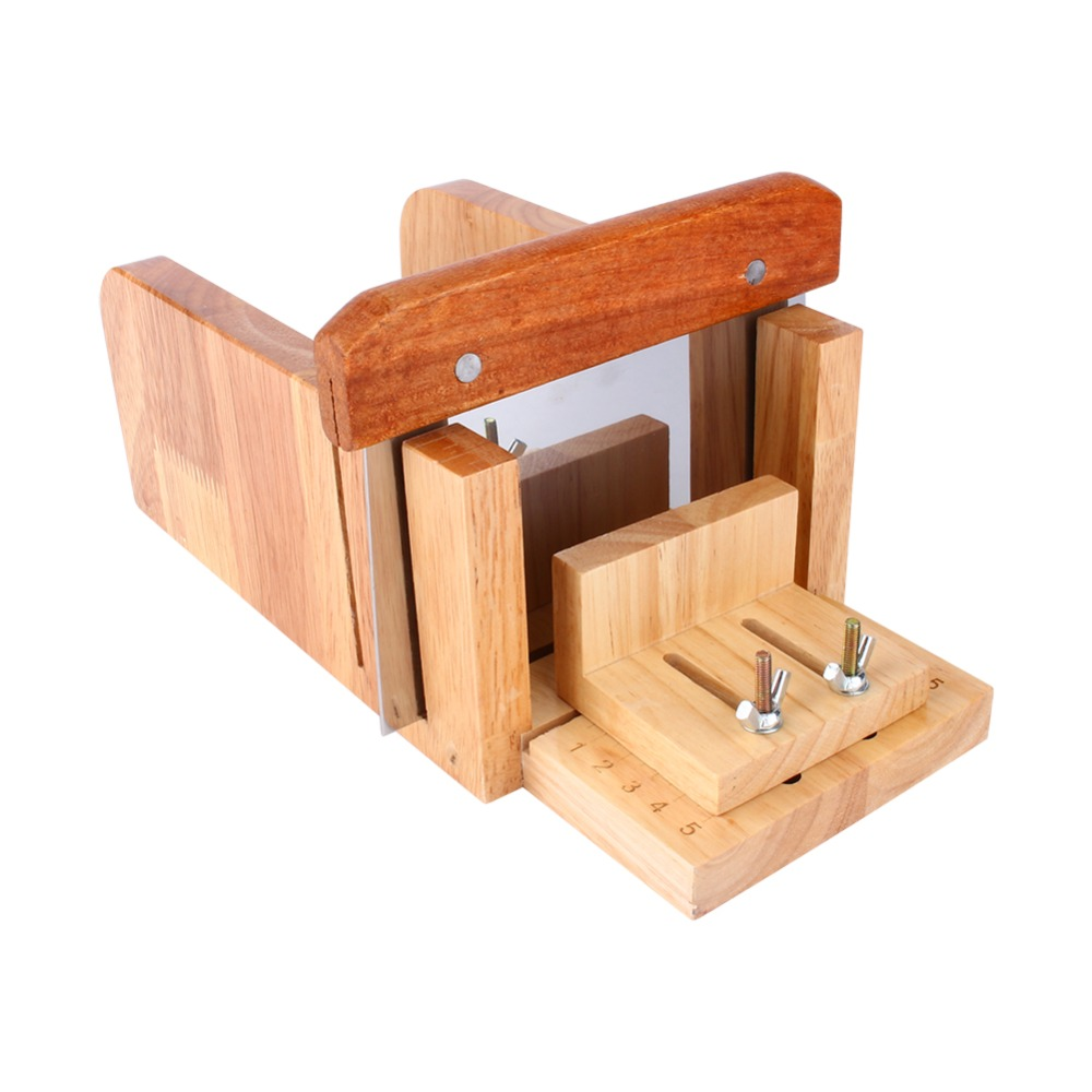 Adjustable 3Pcs Wood Stainless Steel Soap Mold Loaf Cutter  Wood Beveler Planer Cutting Tool Set 2016 one soap mold loaf cutter adjustable wood and beveler planer cutting tool set