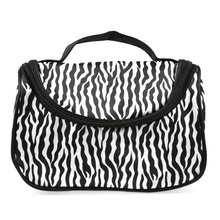 Zebra Patterned Travel Cosmetics Bag