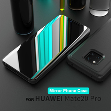 Smart APP Mirror Flip Case For Huawei Mate 8 9 10 Pro Leather Holder 20 Lite 20X Back Cover