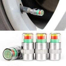 4PCS Auto Reifendruck Sensor 2,2 2,4 2,5 Bar Ventil Stem Cap Air Reifendruck Alarm Alert Reifen Druck überwachung Tools Kit
