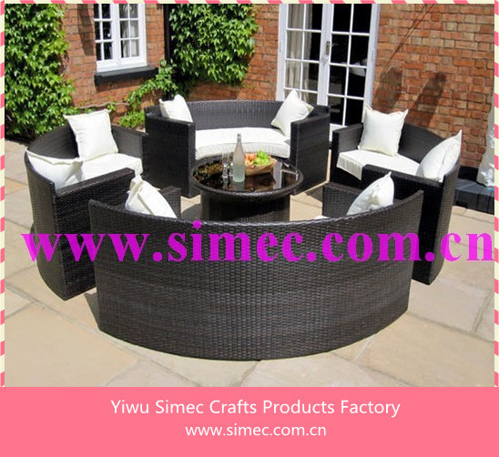 wicker rattan furniture outdoor patio sofa garden sets SCSF-109