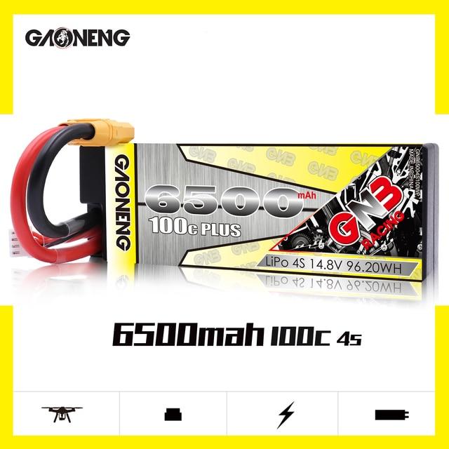 Gaoneng batería rígida para coche de control remoto, GNB, 6500mAh, 4S, 14,8 V, 100C/200C, LiPo, XT90/XT60/Deans, enchufe para coche de control remoto 1:8 1/8