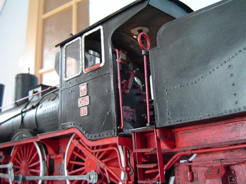 1:35 modèle en papier à monter soi-même Locomotive à vapeur allemande Od2 1898 cadeau garçon Papercraft Puzzle 3D