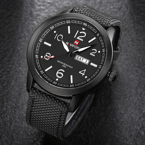 Image 4 - 새로운 naviforce 시계 패션 남자 톱 브랜드 럭셔리 망 나일론 스트랩 손목 시계 남자 쿼츠 스포츠 시계 relogio masculino