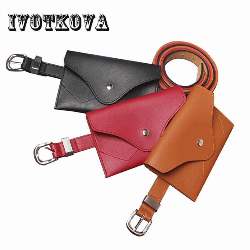 81c5a0745c84 IVOTKOVA Fashion Women Waist Bag High Quality PU Leather Waist Pack For  Female Girl Belt Bag