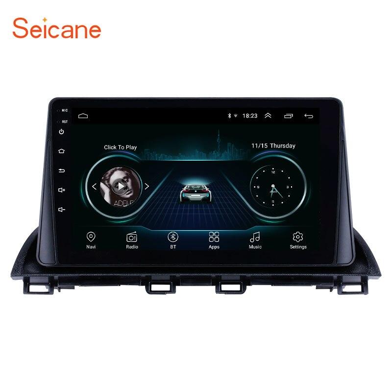 Lecteur vidéo multimédia Seicane Android 8.1 2Din autoradio GPS pour Mazda 3 Axela 2014 2015 support SWC DVR OBD wifi lien miroir