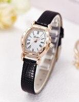 Высокое качество Золотой браслет часы Для женщин Элитный бренд кожаный ремешок Кварцевые часы для женское платье Наручные часы женский часы AC183