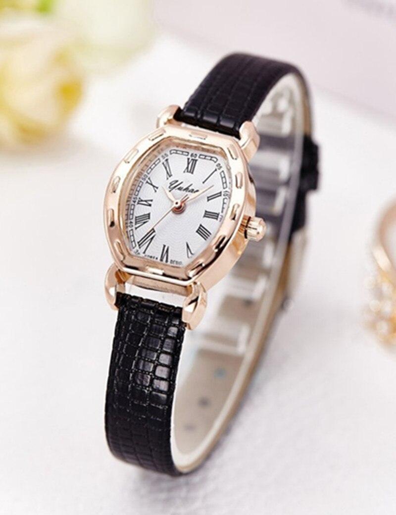 High Quality Gold Bracelet Watches Women Luxury Brand Leather Strap Quartz Watch For Women Dress Wristwatches Female Clock AC183