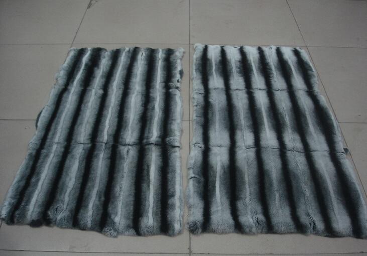 High Quality Chinchillas Rabbit Fur / Real Rex Chinchilla Fur / Rex Rabbit Fur Blanket With Factory Price