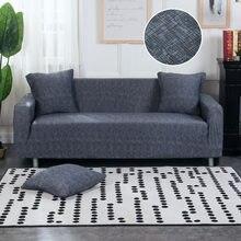 6dc666c3d4f Funda de sofá elástica azul para sofá funda de asiento de sofá Copridivano fundas  para sofá de sala de estar 1/ 2/3/4 plazas 1 P..
