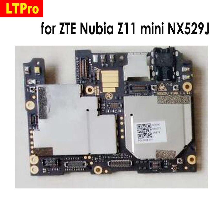 100% Testado Original Usado Z11 mini NX529J taxa de cartão Motherboard mainboard Para ZTE Nubia 64 3 GB de RAM GB ROM placa lógica Circuitos