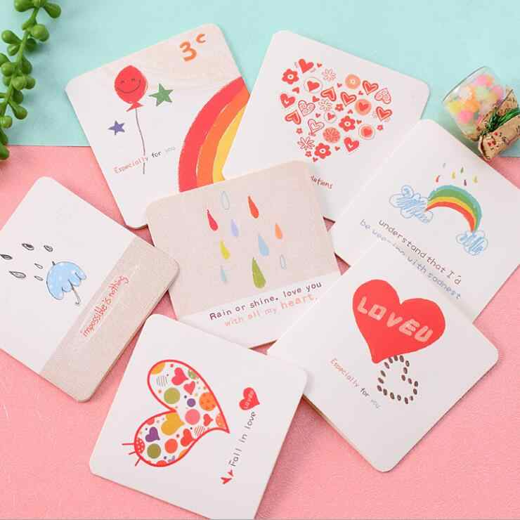 2018 wedding invitations valentine's day marriage postcard birthday party gift greeting blessing thank you name 1 piece