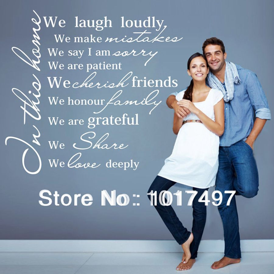 popular wall decals family quotes buy cheap wall decals family house rules vinyl wall decal sticker in this house we love deeply wall sticker family