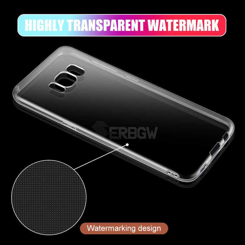 Suave claro caso para SAMSUNG Galaxy A3 A5 A6 A7 A8 A9 J2 J3 J4 J5 J8 J7 J6 Plus 2016 de 2017 de la versión 2018 de silicona transparente Coque