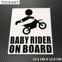 купить YOURART Funny Car Stickers and Decals Baby on Board Sticker Windshield Baby In Car Sticker Warning Car Styling for Ford Focus 2 по цене 103.56 рублей