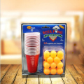 1 Set Beer Pong Kit Party Game Drinking Toy for Nightclub Bar Happy Hour Holiday Gag Toys Novelty Gifts with 24pcs/22pcs Cups