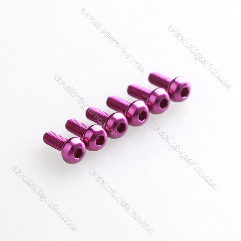 High strength M3x6mm 7075 T6 Aluminum hex button screws free shipping for font b Drone b