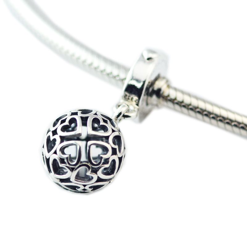 100% 925 Sterling Silver Openwork Harmonious Dangle Charm Beads for Jewelry Making Fit Bracelets DIY Fine Jewelry FP747100% 925 Sterling Silver Openwork Harmonious Dangle Charm Beads for Jewelry Making Fit Bracelets DIY Fine Jewelry FP747
