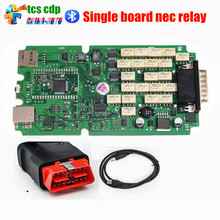Best Quality 2014.2/2015.1 TCS CDP + Nec Relays With Single Green PCB Board A+++ Quality Cars/Trucks Diagnostic tool