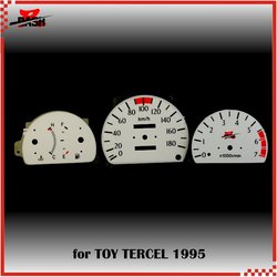 DASH EL Glow Gauge for Toyot Tercel Green Light Needle Remove Required 180 KM 7000 RPM