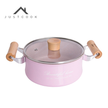 Justcook Mini Milk Pan 16 CM Creative No-Stick Pot Sauce Pans  Chocolate Soup Heating Pot General Use for Gas & Induction Cooker