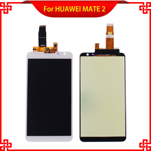 """5pc/lot 100%Guarantee Tested LCD Display Touch Screen For HUAWEI MATE 2 High Quality 6.1"""" White Mobile Phone LCDs Free Shipping"""
