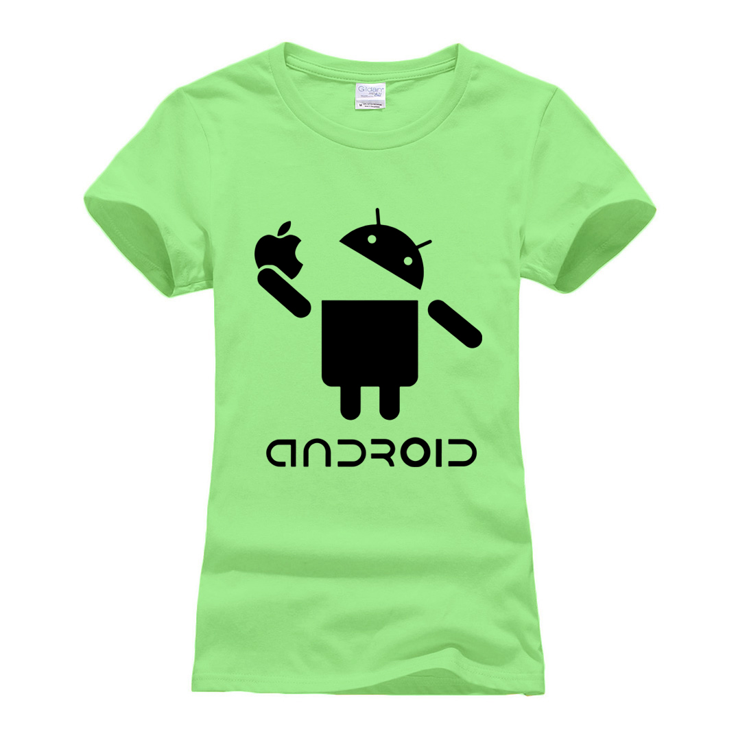 Short Sleeve hipster Casual Clothes 2019 Summer Funny Android robot printing T-shirt women Brand Cotton high quality T Shirts