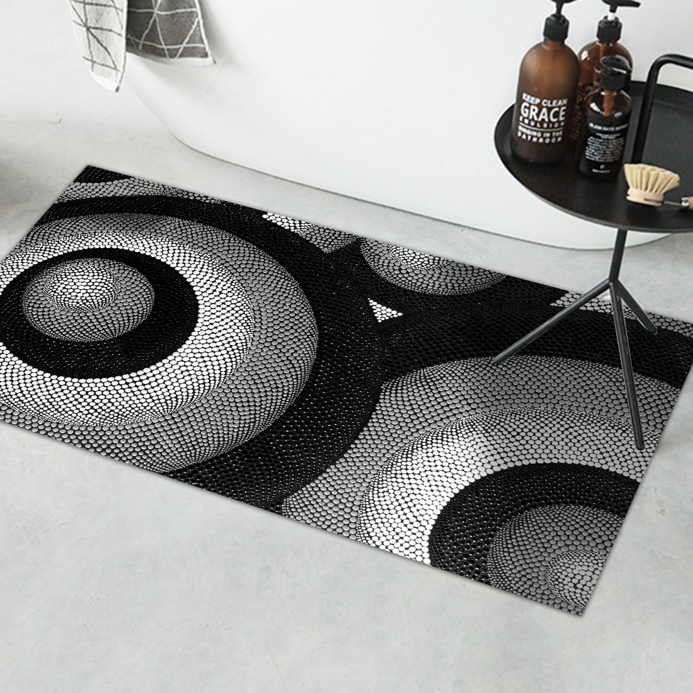 Art Abstract Pattern Easy to Clean Waterproof Self-Adhesive Anti-Slip Carpet Stickers Wall Decal Kitchen Bathroom CA008