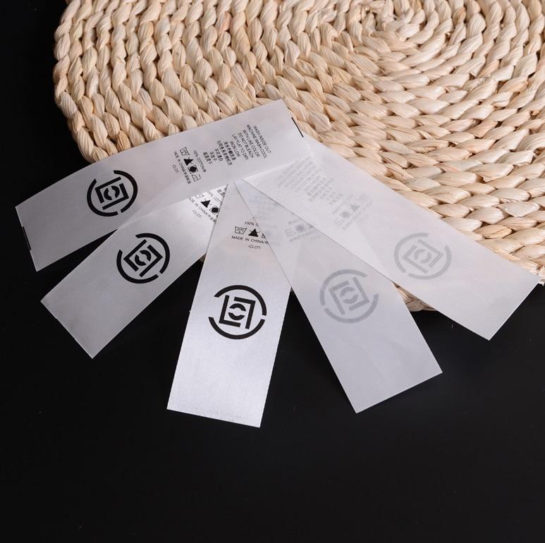 จัดส่งฟรีทำเองออกแบบเสื้อผ้าสีขาวซักผ้าฉลากดูแลเสื้อผ้าขนาดแท็กผ้าไหมล้างทำความสะอาดได้ป้าย-ใน ป้ายเสื้อผ้า จาก บ้านและสวน บน AliExpress - 11.11_สิบเอ็ด สิบเอ็ดวันคนโสด 2