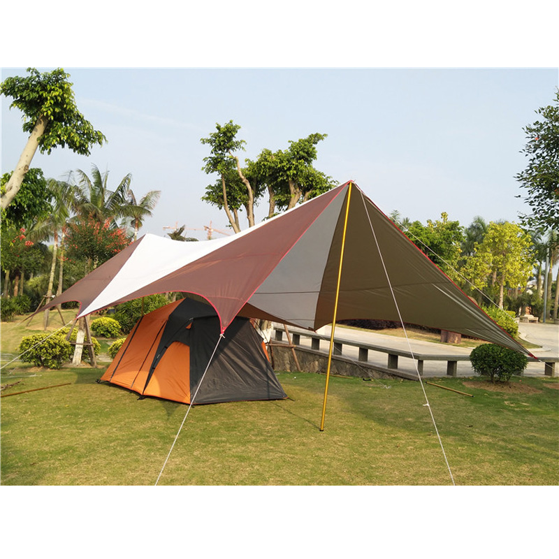 8*5*2.4m super large size new design UV waterproof sunshelter outdoor camping tent/gazebo/sun shade tent/large space awning outdoor summer tent gazebo beach tent sun shelter uv protect fully automatic quick open pop up awning fishing tent big size