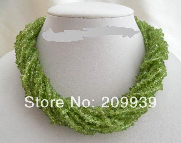 Livraison gratuite>>> @ AS3487 WOW classic collier péridot 12 brins vert naturel