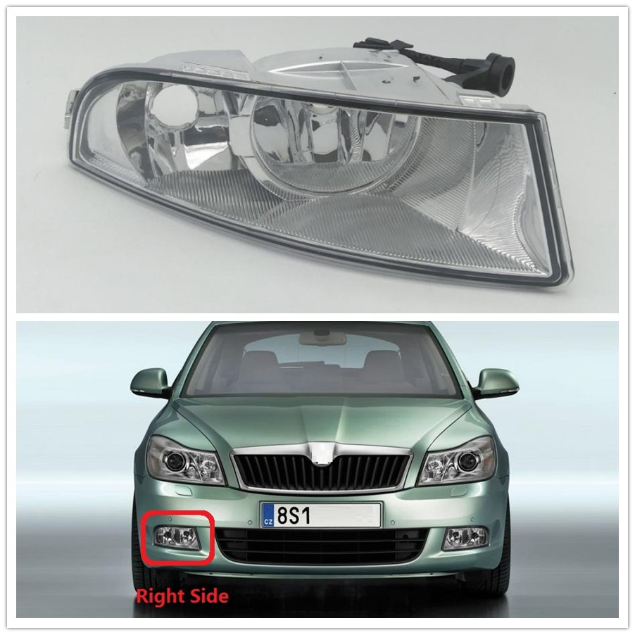 Car Light For Skoda Octavia A6 MK2 FL 2009 2010 2011 2012 2013 Car-styling Front Halogen Fog Light Fog Lamp Right Passenger Side бра lumion tefida 3105 1w