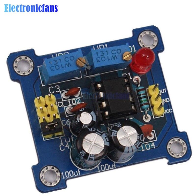 NE555 générateur d'impulsion démarreur d'impulsions Cycle de service et Module réglable en fréquence kit de bricolage oscillateur générateur de Signal d'onde carrée