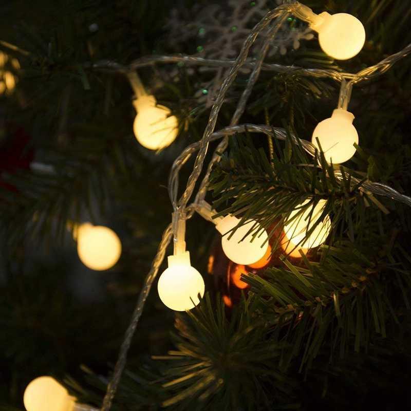 110 V 220 V 6 m 10 m 20 m 30 m 50 m Opaco Palla HA CONDOTTO LA Luce Della Stringa Di Natale garland per la Cerimonia Nuziale Partito di Festa Della Decorazione Della Casa Outdoor