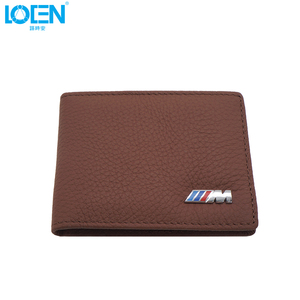 Image 2 - LOEN 1PC Leather Auto Driver License Bag Car Driving Documents Card Credit Holder Purse Wallet Case For bmw style