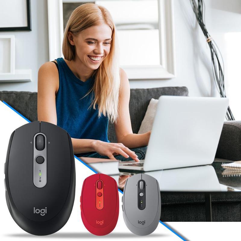 Souris Bluetooth sans fil Logitech M590 muet 1000 DPI 7 touches souris d'ordinateur optique silencieuse pour pc de bureau souris muette Bluetooth