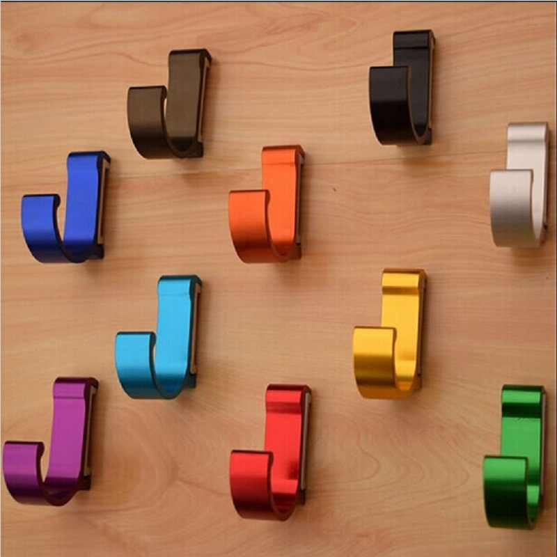 Practical Aluminum Candy Color Decorative Wall hooks& racks,Clothes hanger & Metal & Towel & coat&Robe hook.Bathroom Accessories