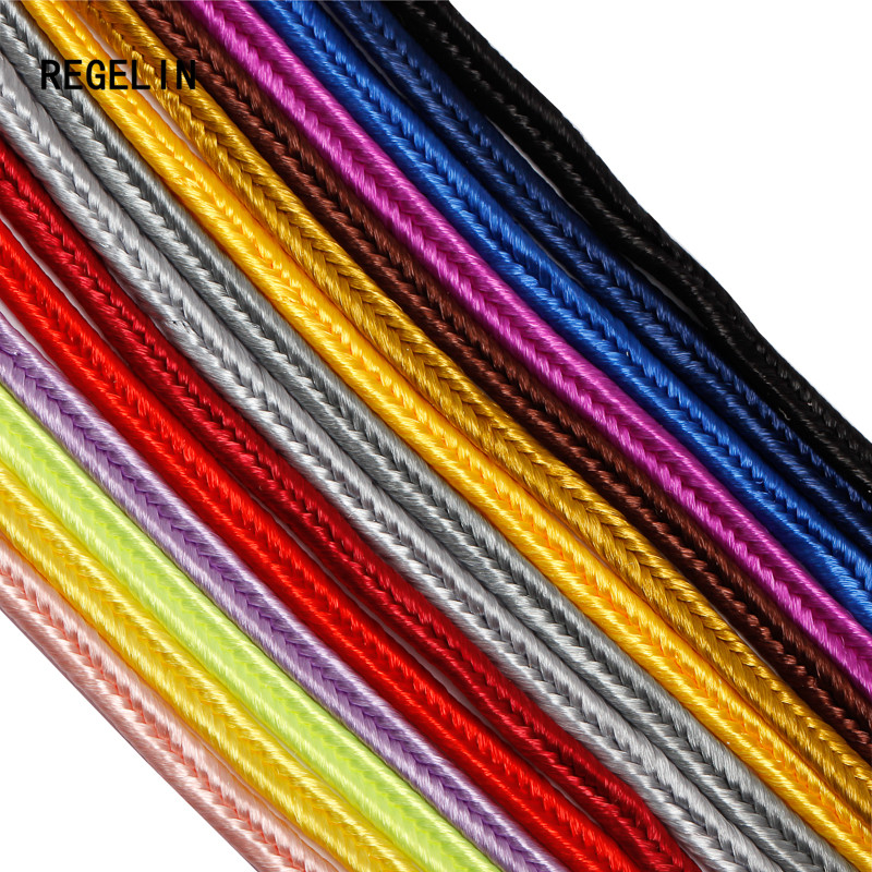 REGELIN  ( About 30 Meters 3mm) Chinese Soutach Cord Nylon Rope Snake Belly Cords For DIY Chinese Knot Findings