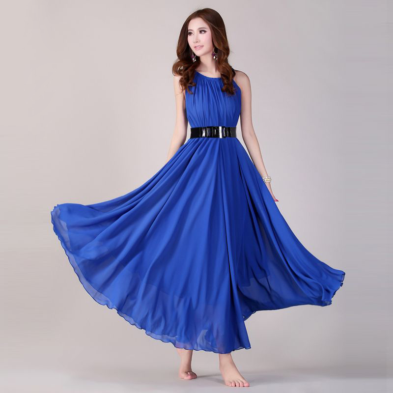 US $33.3 |Royal Blue Summer Holiday Beach Maxi Dress Beach Wedding Party  Guest Sundress Plus Size Boho maternity-in Dresses from Women\'s Clothing on  ...