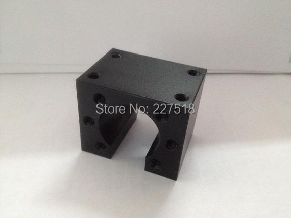 3 pcs HD16 SFU1605 ball screw nut housing black aluminium for 1605 16mm ball screw nut