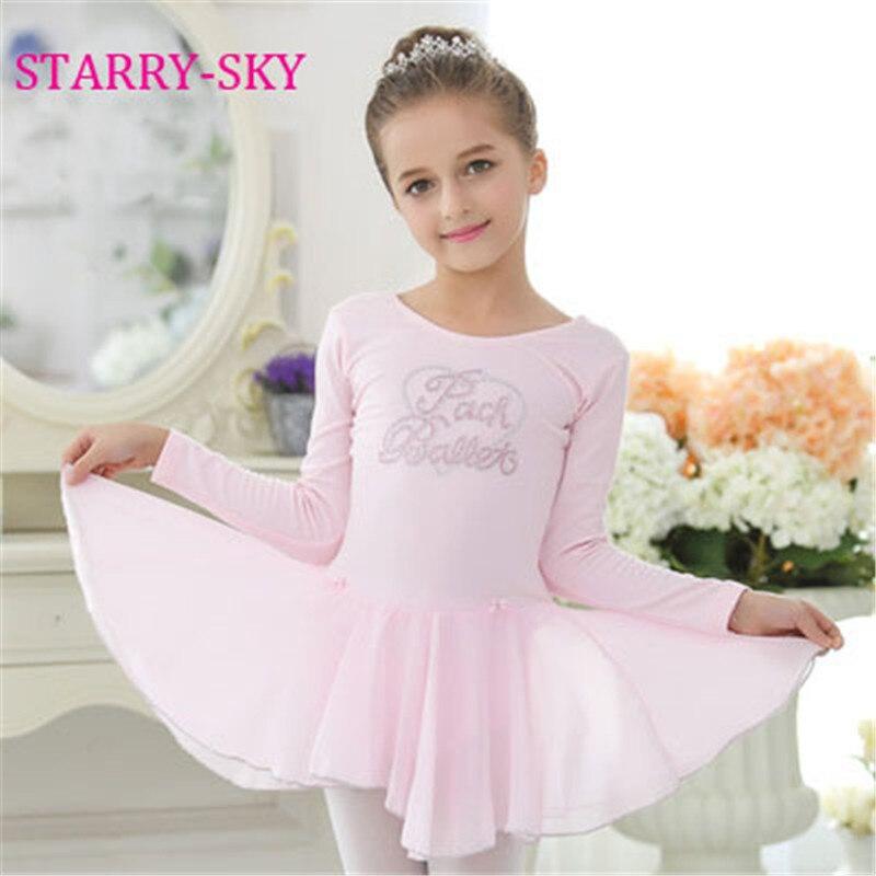 da1b47b6f New Ballrt Girl Dancing Clothes Children Girls Long Sleeve Ballet ...