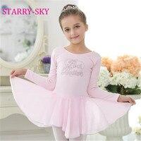 New Ballrt Girl Dancing Clothes Children Girls Long Sleeve Ballet Dress Skirt Kids Cotton Gown Dance Dresses Baby Girl Leotard