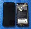 LCD screen display + Touch digitizer with frame For ASUS ZENFONE GO ZC500TG Z00VD  black color free shipping