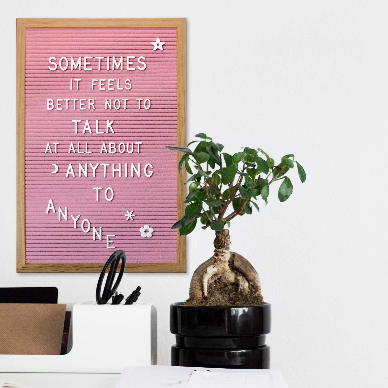 """Pink Felt Letter Board 12x18"""", Bulletin Message Board ..."""