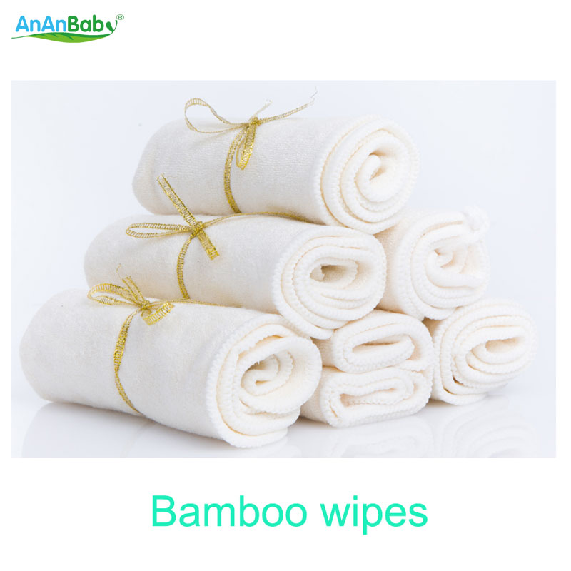 100% bamboo wipes clearance towel washable reusable baby wipes breathable super absorption ...