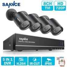 SANNCE HD 8CH CCTV системы 1080 P HDMI DVR 720 CCTV безопасности камера 4 шт. 1280TVL наружняя инфракрасная камера товары теле и видеонаблюдения комплект